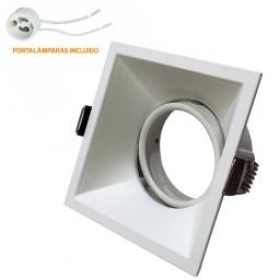 Empotrable Basculante Blanco GU10 Cuadrado