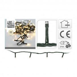 Guirnalda Led fija luz cálida 480 LEDs IP44 39m