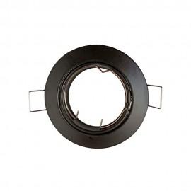 Empotrable redondo negro GU10