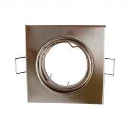 Empotrable cuadrado níquel satinado GU10