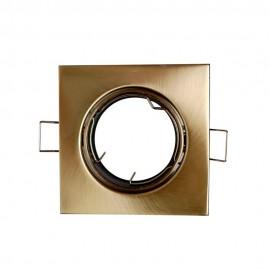 Empotrable cuadrado bronce satinado GU10