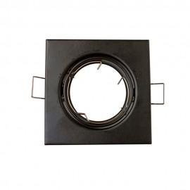 Empotrable cuadrado negro GU10