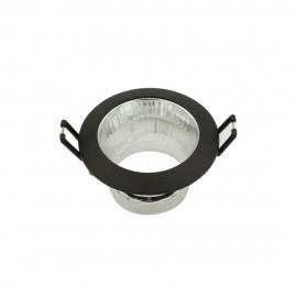 Empotrable redondo con reflector negro GU10