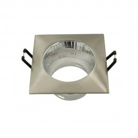 Empotrable cuadrado con reflector níquel satinado GU10