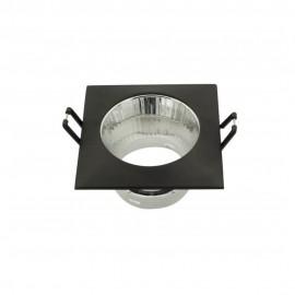 Empotrable cuadrado con reflector negro GU10