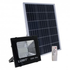 Proyector Solar 150w 6500k Junot negro con mando