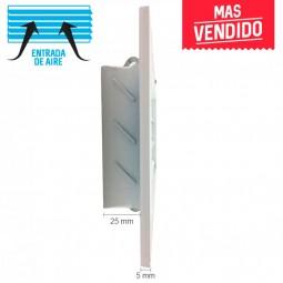 Rejilla de ventilación retorno blanco + Marco de montaje