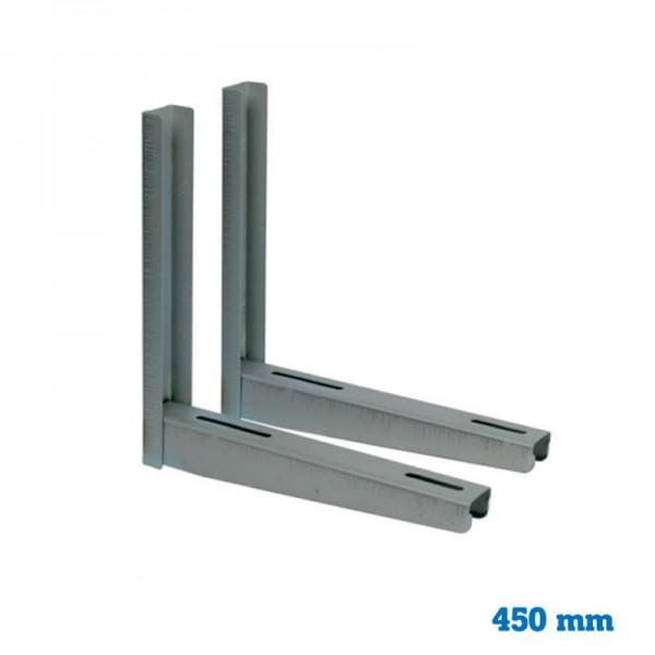 Juego soporte inox 450 mm
