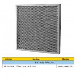 FILTRO MALLAS  ACERO HPI AISI 304 DE 490X490X50MM.