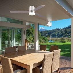 Ventilador de techo con luz serie zonda color plata