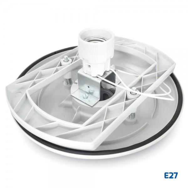 Base blanca de policarbonato para bola E27