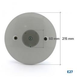 Base gris de aluminio para bola E27