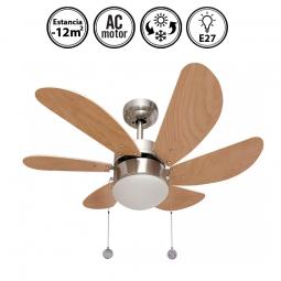 Portada-ventilador-de-techo-con-luz-serie-Delfín-niquel/haya