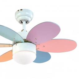 Ventilador-de-techo-con-luz-multicolor-pastel-brillo-Rainbow