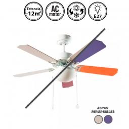 Portada-ventilador-de-techo-con-luz-serie-Heracles-blanco/multicolor