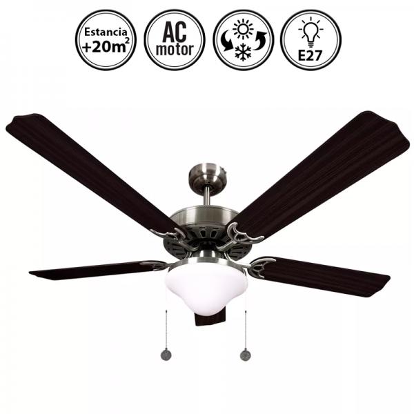 Portada-ventilador-de-techo-con-luz-serie-Orión-niquel/wengué