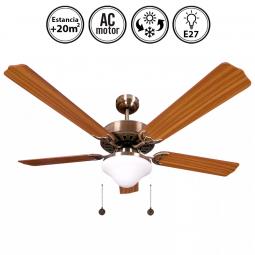 Portada-ventilador-de-techo-con-luz-serie-Orión-cuero/roble