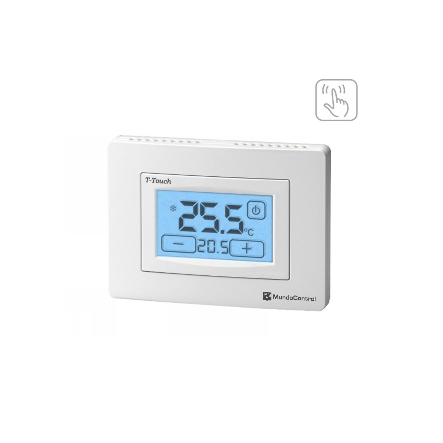Termostato ambiente pantalla t ctil t touch alg sistemas - Termostato de ambiente ...