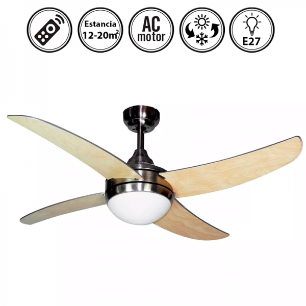 Portada-ventilador-de-techo-con-luz-niquel/haya-serie-Osiris