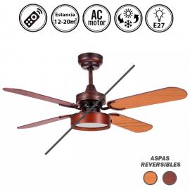 Portada-ventilador-bornan-marron-rustico-2xe27-4-aspas-nogal/cerezo-39x107D-control-remoto