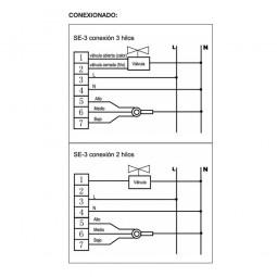 Termostato para fancoil SE-3-FAN