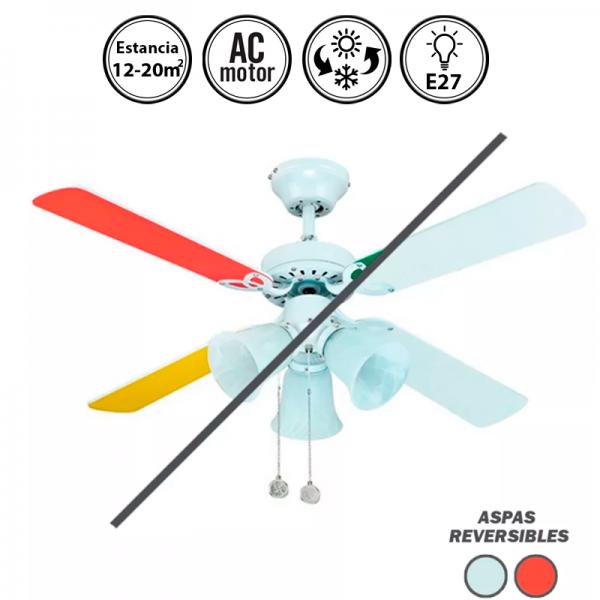 Portada-ventilador-de-techo-con-luz-blanco/multicolor-Hornet