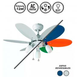 Ventilador-de-techo-con-luz-blanco/multicolor-Tones