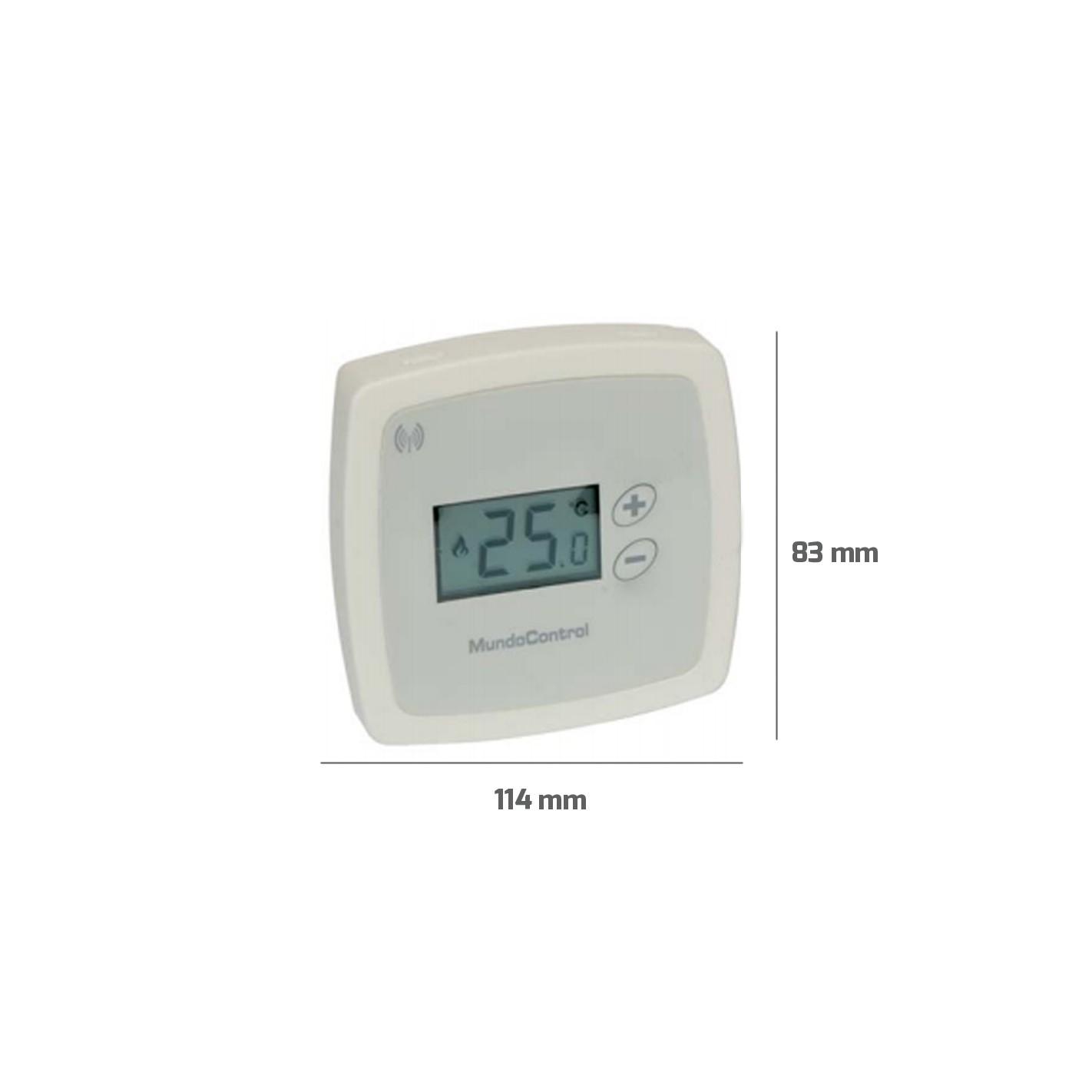 Termostato ambiente v a radio mc 1rf alg sistemas - Termostato ambiente digital ...