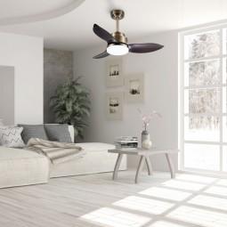 Ventilador de techo con luz Maki