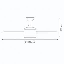 Medidas-ventilador-de-techo-serie-Malibu-blanco-con-luz
