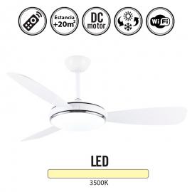 Ventilador de techo Blanco con luz 120d VD 01 810