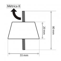 Bolsas de montaje splits Suelo 4xS60 + tuercas y arandelas