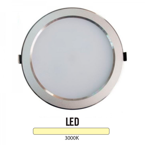 Downlight Led Redondo 25W Plata