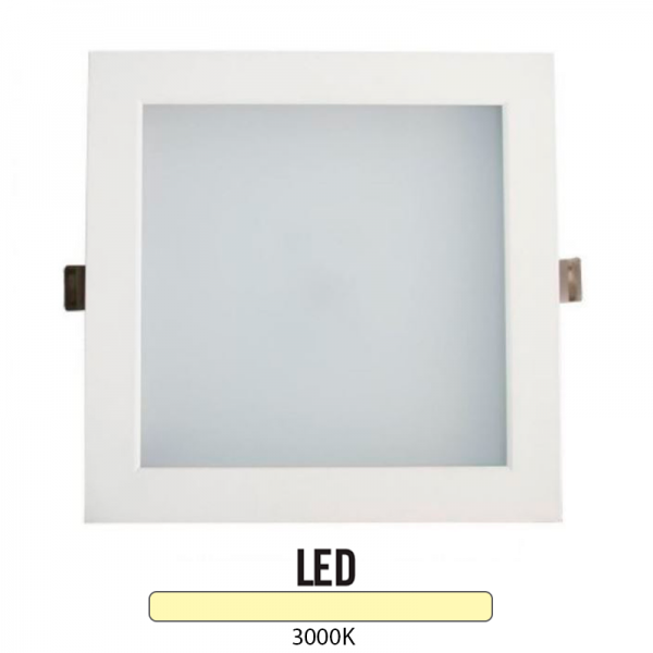 Downlight Cuadrado Aluminio Blanco 25W