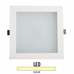 Downlight Cuadrado Aluminio Blanco 25W