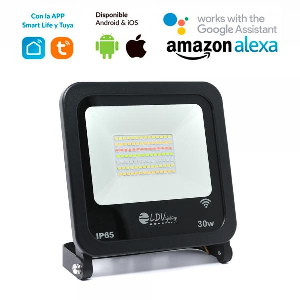 Proyector LED 30W RGB IP65 WIFI