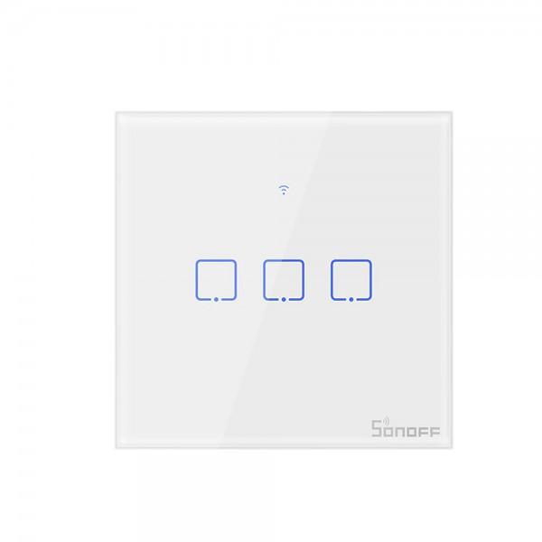 Sonoff Interruptor táctil 3 contactos BL