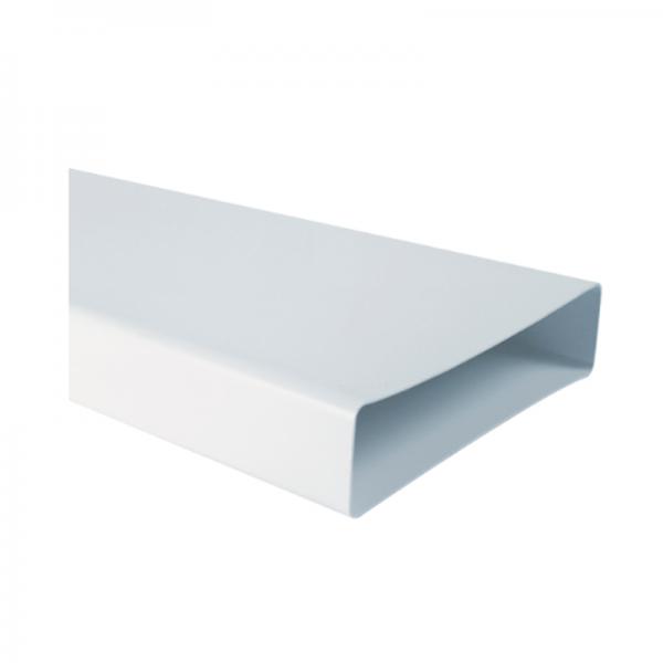 Canaleta plana rectangular blanca