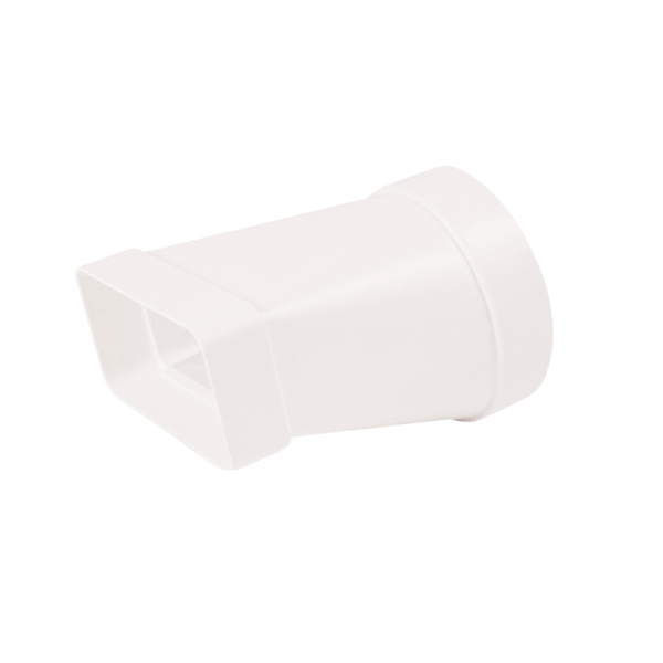 Adaptador rectangular / circular blanco