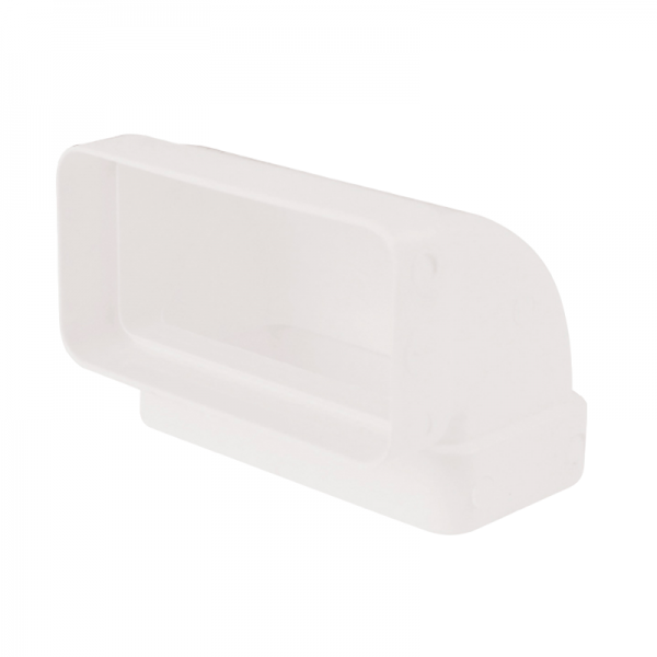 Codo de 90° rectangular vertical blanco
