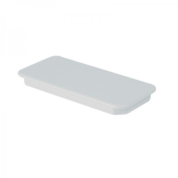 Tapa final rectangular blanca