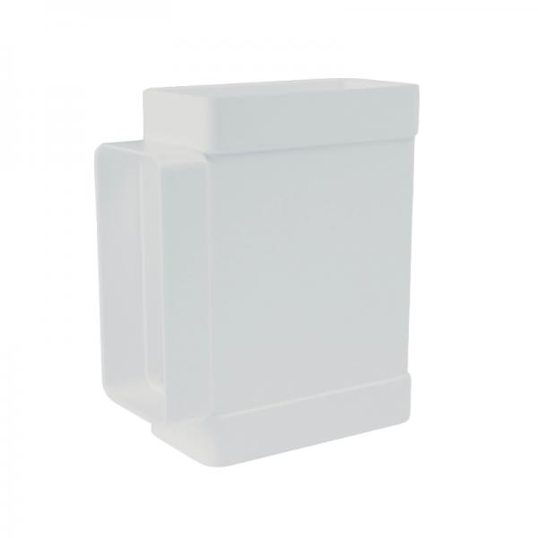 Derivación en T rectangular blanca
