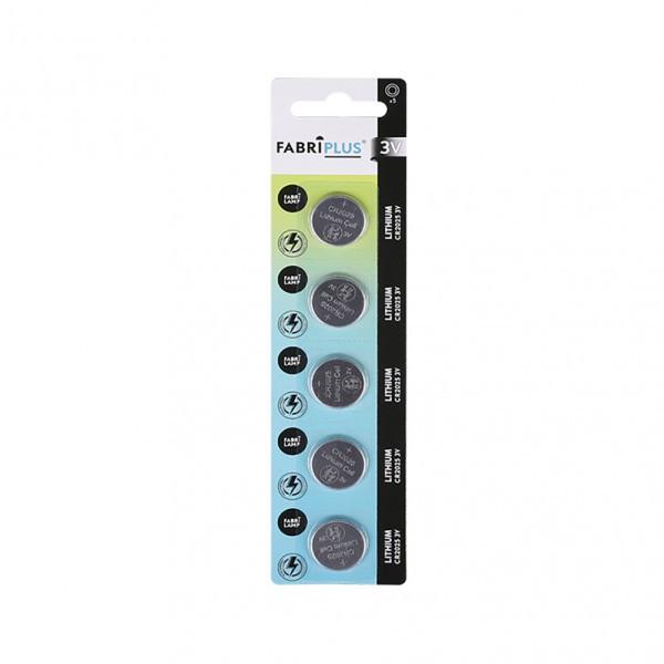 Pila Boton Cr2025 3v Fabriplus Litio 20x5x0,4 Cm
