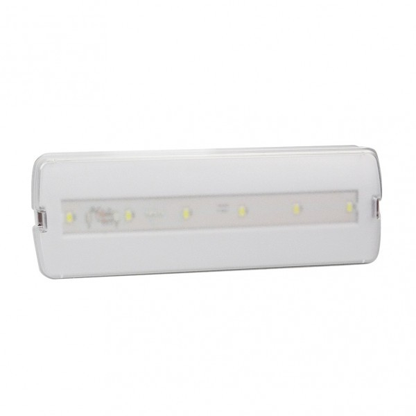 Luz Emergencia Thonet 3w 6500k Bater.3 H Transpare 24x8,5x4 Cm 240lm Facil Selec.permanenc