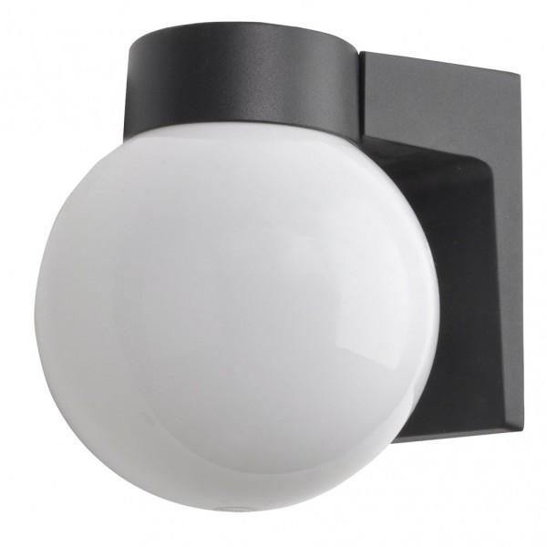 Aplique Exterior Aluminio Procyon 1xe27 Negro  18x18x15 Cm  Ip4