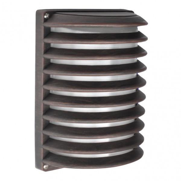Aplique Ext. Aluminio Achernar 1xe27 Marron Ip44 25,5x18x13 Cm