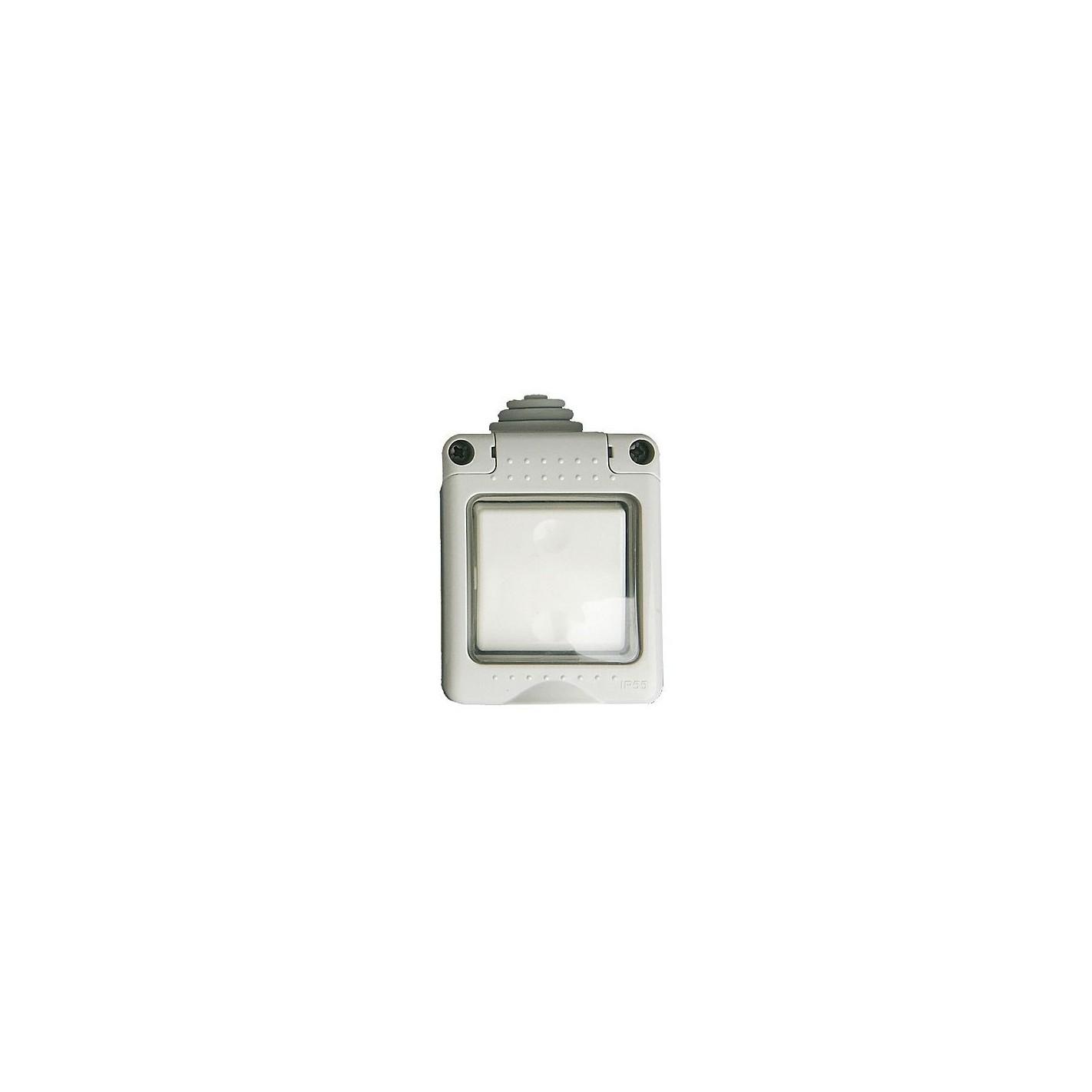 Iluminacion Estanca Baño: > Superficie modular > Caja estanca 2 modulos con interruptor IP 65