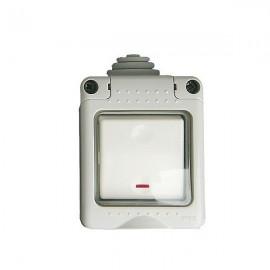 Caja estanca 2 modulos con pulsador led IP 65