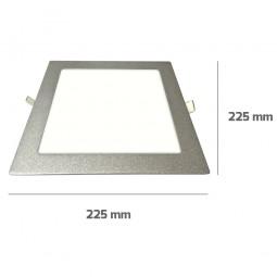 Downlight Cuadrado Aluminio 18W Plata