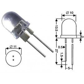 Diodo led 10 mm alto brillo (Pack de 5 unid.)